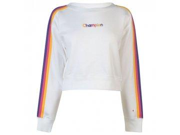 Dámská mikina Champion Rainbow Tape Bílá