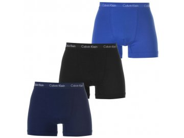 Boxerky Calvin Klein 3 v balení Black/Blue/Nvy