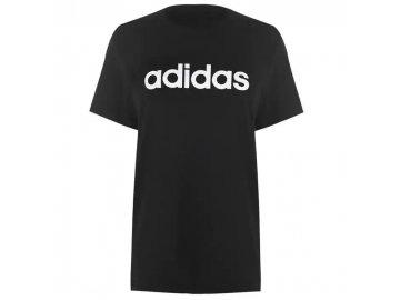 Dámské triko adidas Linear Boyfriend Černé