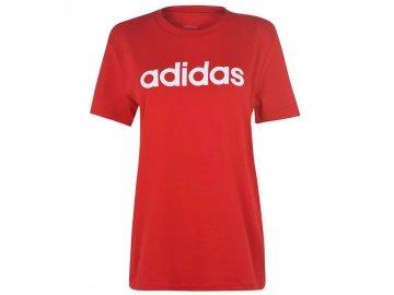 Dámské triko adidas Linear Boyfriend Červené