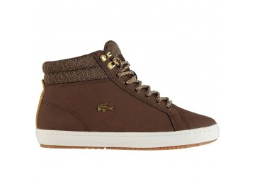 Dámské boty Lacoste Straightset Insulated Hnědé