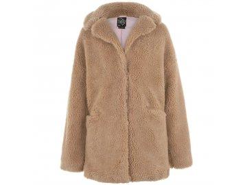 Dámský kabát Fabric Teddybear Beige