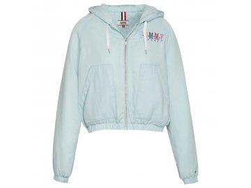 Dámská bunda Tommy Hilfiger Pastel Zip Modrá