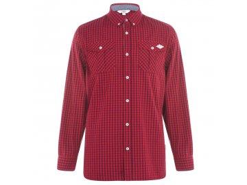 Pánská košile Lee Cooper Long Sleeve Červená