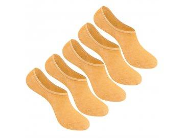Dámské neviditelné ponožky Giorgio 5 v balení II Meruňkové