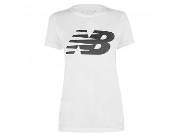 Dámské triko New Balance Logo Graphic QT Bílé