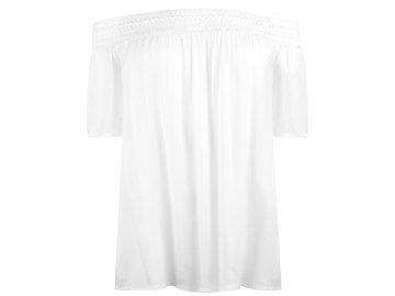 Dámské triko Jacqueline de Yong Famous Off Shoulder Bílé