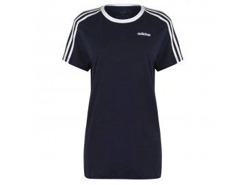 Dámské triko adidas Essentials 3 Stripe Navy