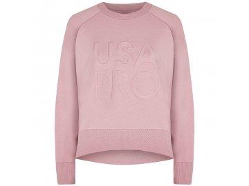 Dámská mikina USA Pro Crew Sweatshirt Růžová
