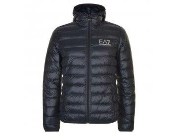 Pánská bunda Emporio Armani EA7 Hooded Logo Černá
