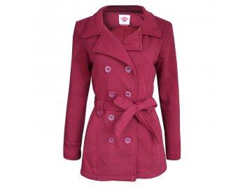 Dámský kabát Lee Cooper Belt Růžový