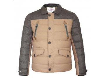 Pánská bunda Lee Cooper Contrast Zip Béžová