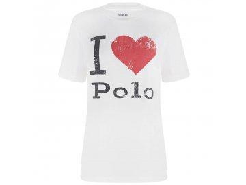 Dámské triko Ralph Lauren Heart Bílé