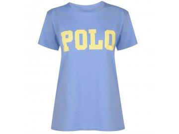 Dámské triko Ralph Lauren Big Logo Lake Blue