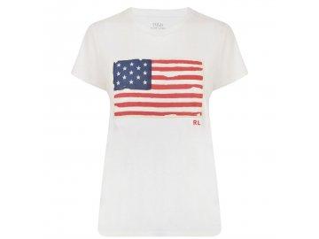 Dámské triko Ralph Lauren Flag White
