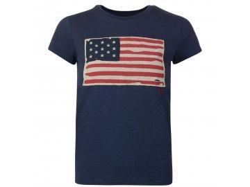 Dámské triko Ralph Lauren Flag Navy 002