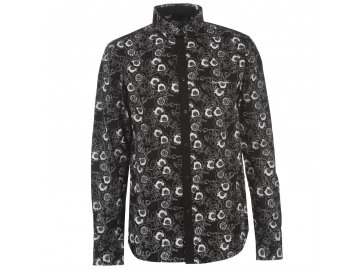 Pánská košile s dlouhým rukávem Pierre Cardin Floral Černá