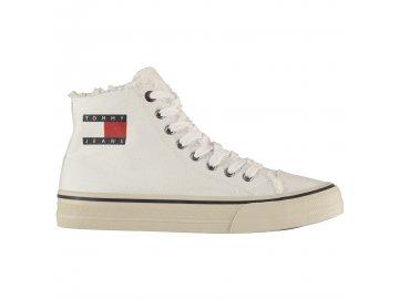 Pánské boty Tommy Hilfiger Jeans Hi Tops Bílé