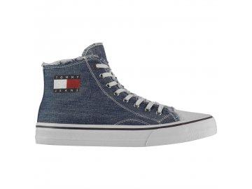 Pánské boty Tommy Hilfiger Jeans Hi Tops Denim
