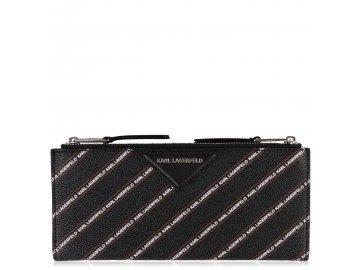 Peněženka Karl Lagerfeld Logo Fold Černá