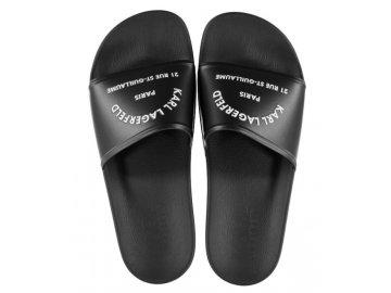 Pánské pantofle Karl Lagerfeld Kondo Černé