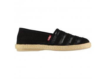 Dámské boty Levis Rosedale Espadrilles Černé