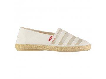 Dámské boty Levis Rosedale Espadrilles Bílé