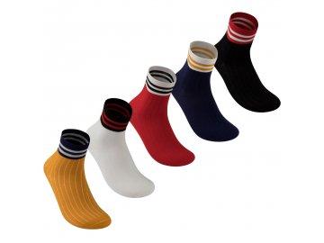 Pánské ponožky Lee Cooper Fashion 5 v balení Multi