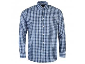 Pánská Košile s dlouhým rukávem Pierre Cardin Modrá Check