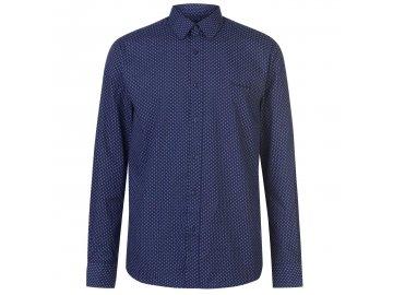 Pánská Košile s dlouhým rukávem Pierre Cardin Navy Geo