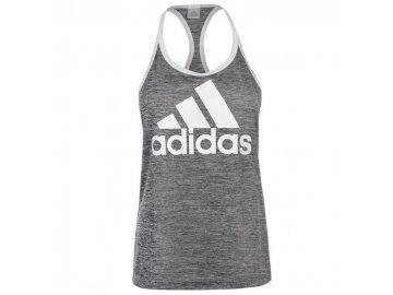 Dámské tílko adidas HI5 Logo Tmavě šedé