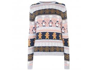 Dámský vánoční svetr Star Christmas Knit Fairisle