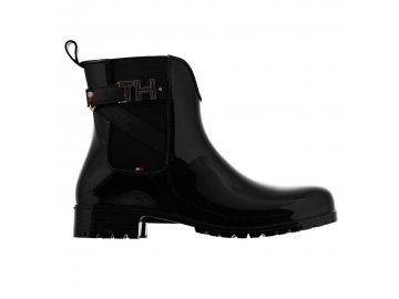 Dámské boty Tommy Hilfiger Wellington Černé