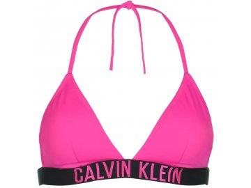 Plavky horní díl Calvin Klein Intense Power Neonově růžové