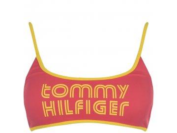 Plavky horní díl Tommy Hilfiger Pop Bralette Růžové
