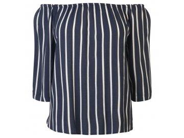 Dámské triko Jacqueline de Yong Off The Shoulder Navy
