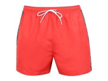 Pánské plavky Calvin Klein Side Tape Červené