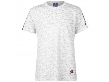 Pánské triko Champion Tape Bílé