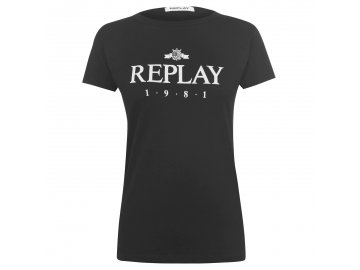 Dámské triko Replay 1981 Černé