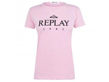 Dámské triko Replay 1981 Růžové