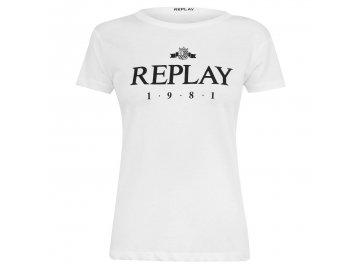Dámské triko Replay 1981 Bílé