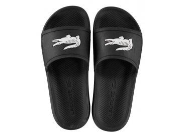 Dámské pantofle Lacoste Crocodile Černé