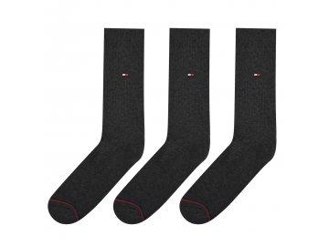 Pánské ponožky Tommy Hilfiger Sports 3 v balení Šedé