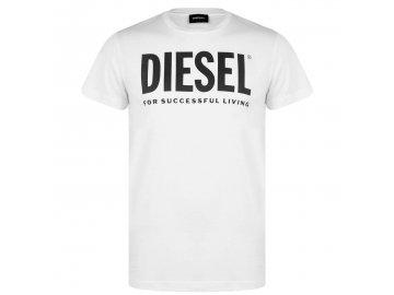 Pánské triko Diesel Logo Bílé