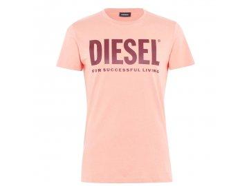 Pánské triko Diesel Logo Růžové