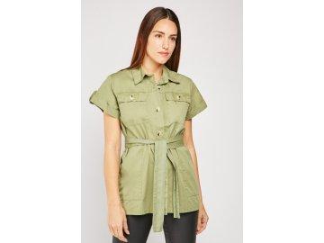Dámská košile Belted Safari Khaki