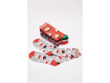 Vánoční ponožky 6 v balení Christmas Multi