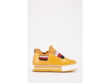 Dámské boty Dreamstock Metallic Elasticated Žluté
