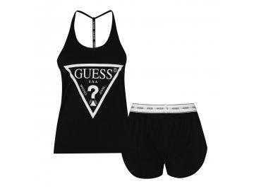 Dámské pyžamo Guess Vest Černé