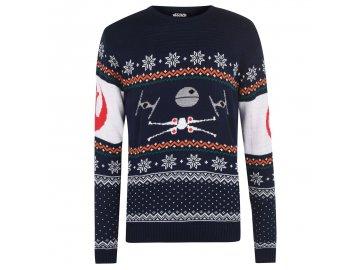 Pánský vánoční svetr Dreamstock Wing Modrý